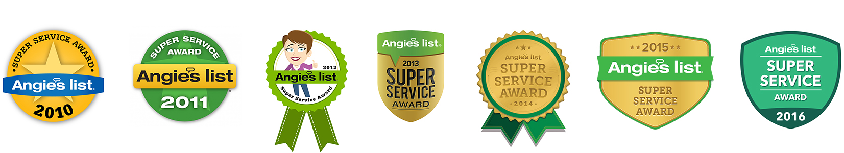 Angie's List Super Service Awards 2010, 2011, 2012, 2013, 2014, 2015, 2016 | All Pro Electric Portland, OR